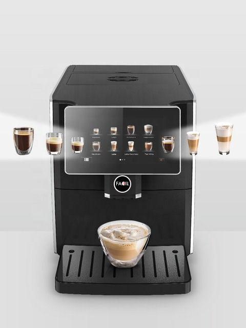 FE11 met alle koffievarianten zoals cappuccino en latte